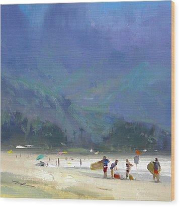Hanalei Bay Wood Print by Richard Robinson