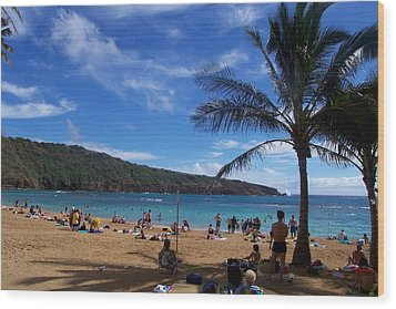 Hanauma Beach  Wood Print