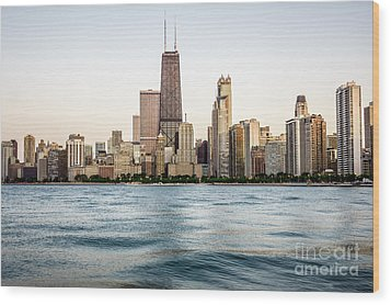 Hancock Building And Chicago Skyline Wood Print by Paul Velgos
