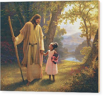 Hand In Hand Wood Print by Greg Olsen