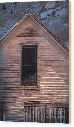 Hand In Window Wood Print by Jill Battaglia