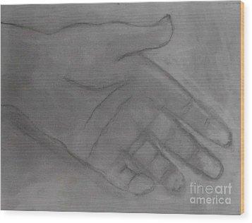 Hand Of God Wood Print by James Eye