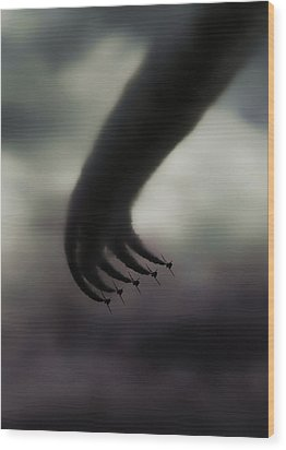 Hand Of God Wood Print by Stavros Argyropoulos