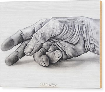 Hand Of Hard Work Wood Print by Atinderpal Singh