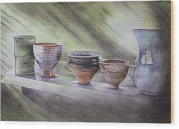 Hand Thrown Wood Print by Patsy Sharpe