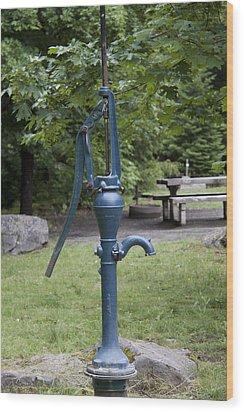 Hand Water Pump 03 Wood Print