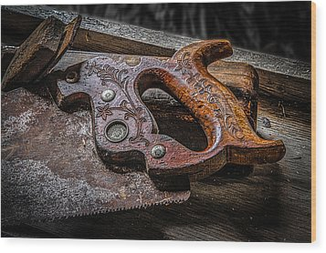 Handle On The Saw  Wood Print