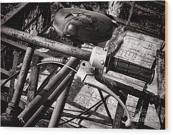 Handlebar Wood Print by Olivier Le Queinec