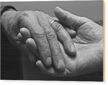 Wood Print featuring the photograph Hands Of Love by Barbara West