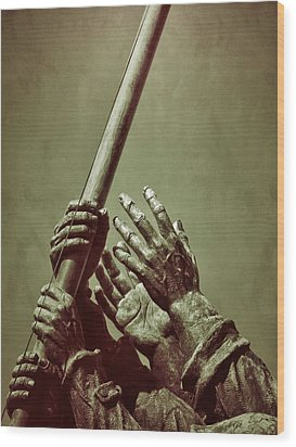 Hands Of Our Fathers Wood Print