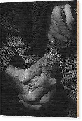 Hands Of Time Wood Print by Steven Milner