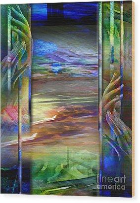 Hands-prisoned Wood Print by Allison Ashton