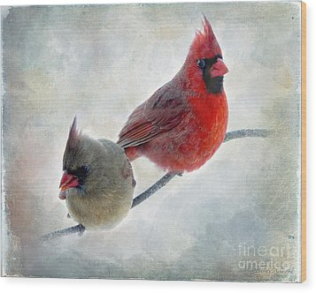 Handsome Couple IIi Wood Print by Debbie Portwood