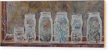 Handymans Preserves Wood Print by Jenny Armitage