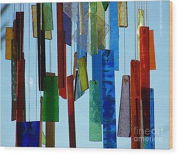 Hang Ups Wood Print by Jackie Mueller-Jones