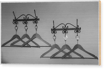 Hangers Wood Print by Dany Lison