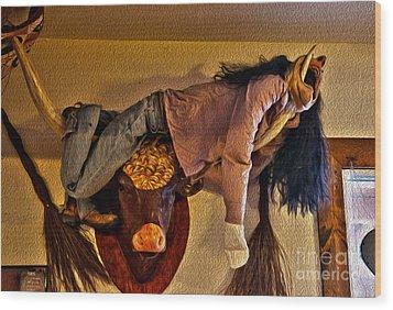 Hanging Around Wood Print