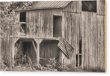 Hanging By A Moment Bw Wood Print by JC Findley