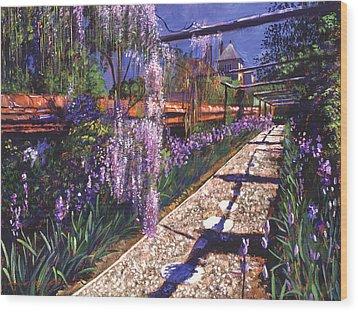 Hanging Garden Wood Print by David Lloyd Glover