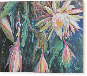 Hanging Garden Floral Wood Print by John Fish
