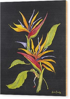 Hanging In Paradise Wood Print by Nickie Bradley