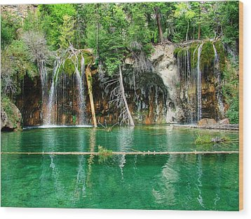 Hanging Lake 1 Wood Print by Ken Smith