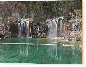 Wood Print featuring the photograph Hanging Lake by Jay Stockhaus