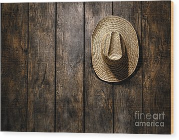 Hanging My Hat Wood Print by Olivier Le Queinec