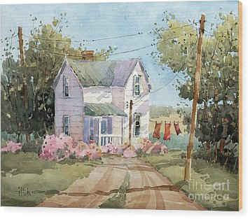 Hanging Out In Illinois By Joyce Hicks Wood Print by Joyce Hicks