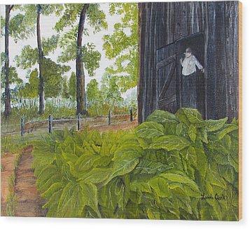 Hanging Tobacco Wood Print