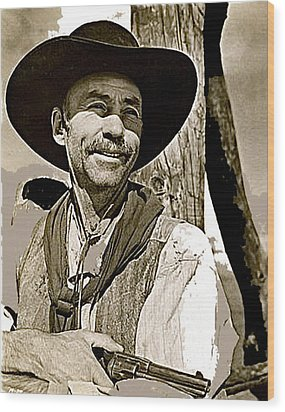 Hank Worden Publicity Photo Red River 1948-2013 Wood Print by David Lee Guss
