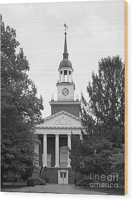 Hanover College Parker Auditorium Wood Print by University Icons