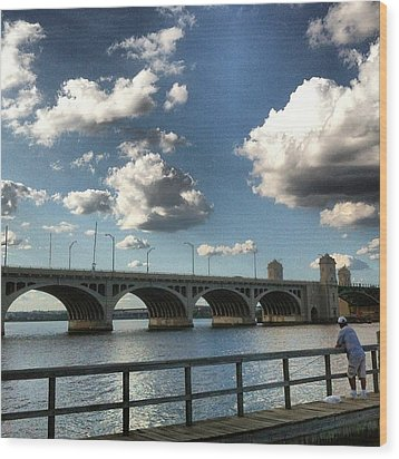 Hanover Street Bridge Wood Print by Toni Martsoukos