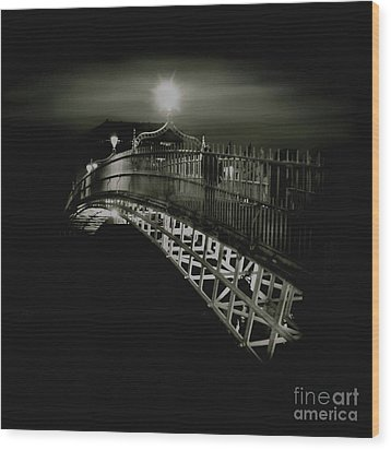 Ha'penny By Night Wood Print by Louise Fahy