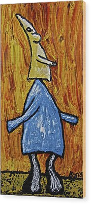 Wood Print featuring the painting Happiness 12-004 by Mario Perron