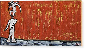 Wood Print featuring the painting Happiness 12-007 by Mario Perron