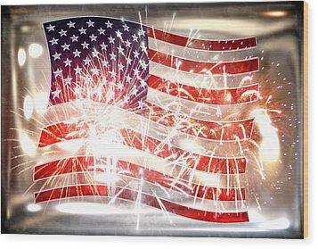 Happy Birthday America Wood Print by Li   van Saathoff