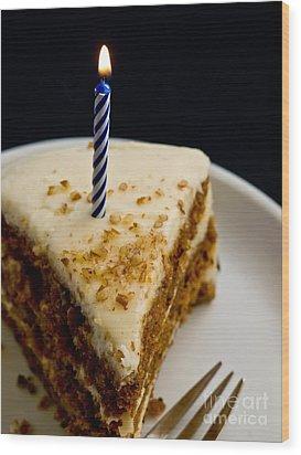 Happy Birthday Wood Print by Edward Fielding