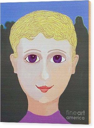Happy Boy Wood Print by Fred Jinkins