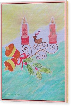 Happy Christmas Wood Print by Sonali Gangane