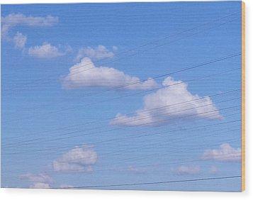 Happy Cloud Day Wood Print