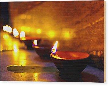 Happy Diwali Wood Print
