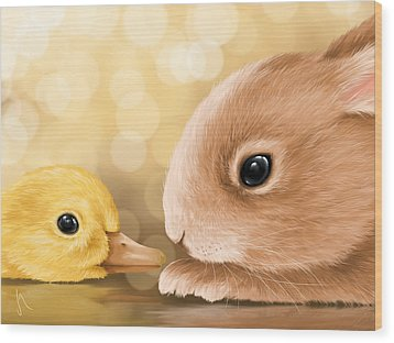 Happy Easter 2014 Wood Print by Veronica Minozzi
