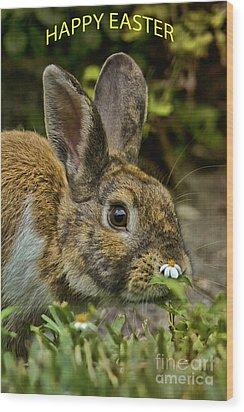 Happy Easter Wood Print by Anne Rodkin