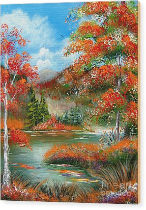 Happy Ever After Autumn  Wood Print