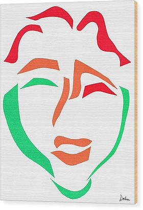 Happy Face Wood Print by Delin Colon