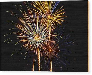 Happy Fourth Of July   Wood Print by Saija  Lehtonen