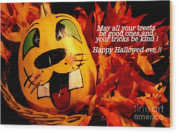 Happy Hallowed Eve Wood Print by Gary Brandes