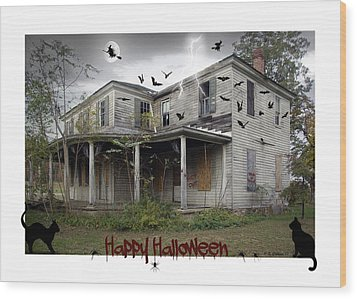 Happy Halloween Wood Print by Brian Wallace