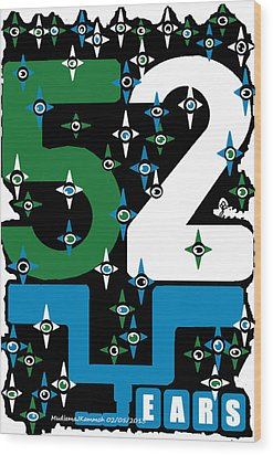 Be A Happy Fifty-two Years In The Makings  Wood Print by Mudiama Kammoh